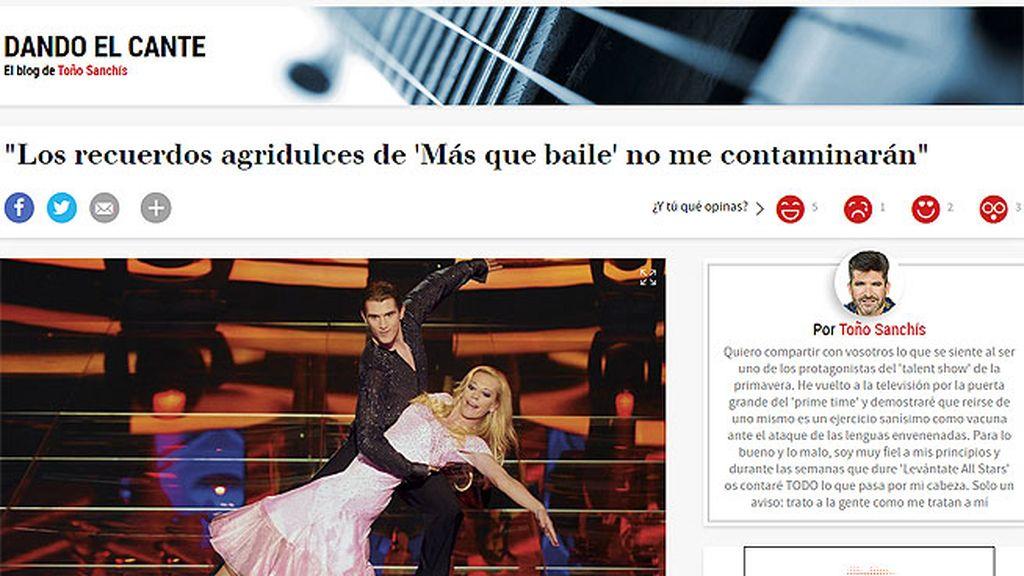 Toño Sanchís se estrena como bloguero