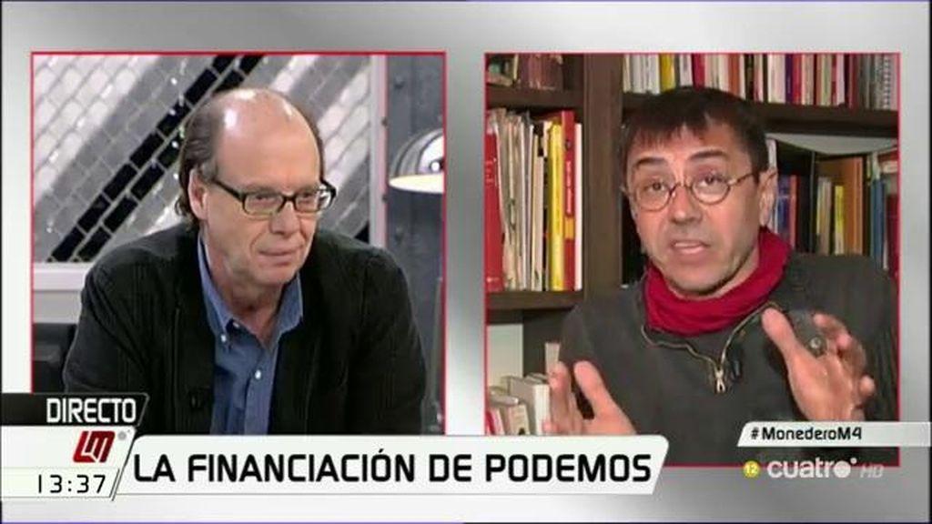 """Monedero, irónico: """"Con el dinero que llega a Podemos, compraré la 'Play' a Errejón"""""""