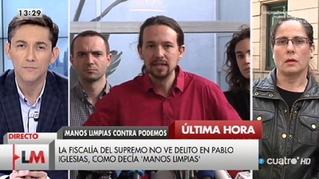 La Fiscalía del Supremo no ve delito en Pablo Iglesias, según la periodista María Peral