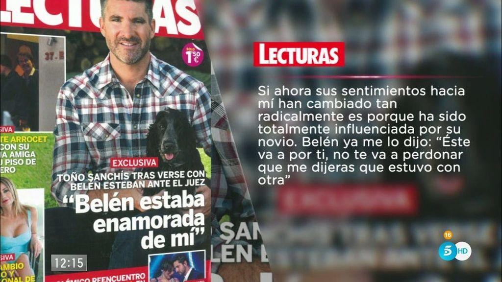"""Toño Sanchís: """"Belén estaba enamorada de mí y estaba celosa de mi mujer"""""""
