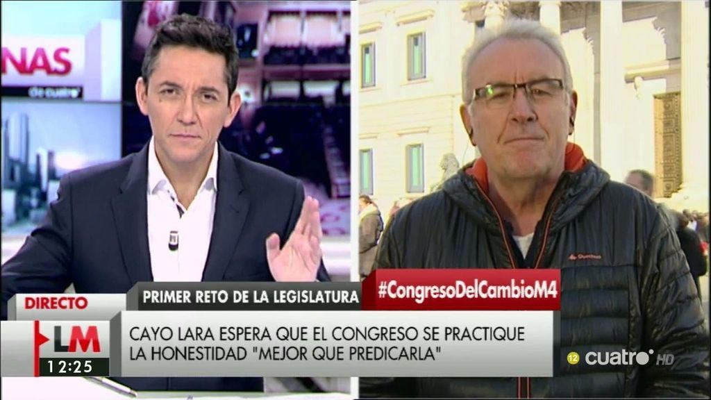 """Cayo Lara: """"No podemos defraudar a la mayoría que quiere acabar con el gobierno del PP"""""""