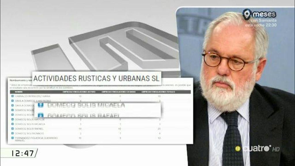 Cañete olvida una empresa de su mujer en la declaración de intereses del europarlamento