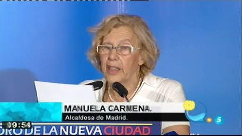 """Carmena: """"Vamos a desarrollar una política para en cuatro años mejorar el 100% de la malnutrición"""""""