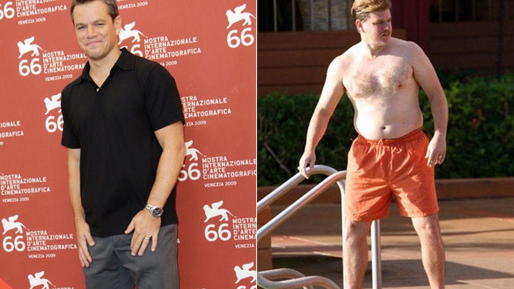 Matt Damon, en 2009 aumentó 13 kilos para la película 'The Informant'