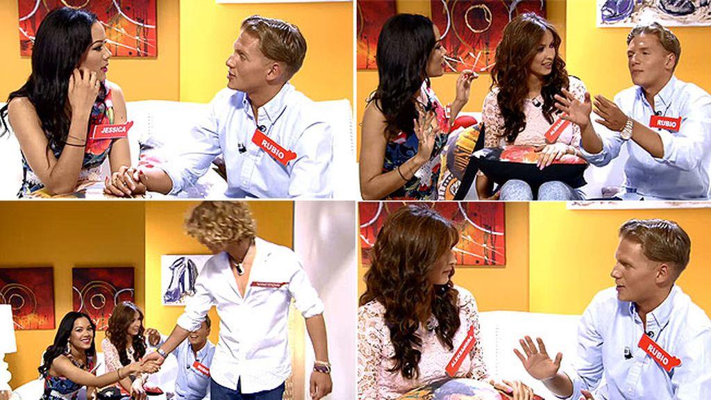 ¡Qué lío de cita en la sala VIP!: Jessica, 'Rubio', Aleksandra y Víctor