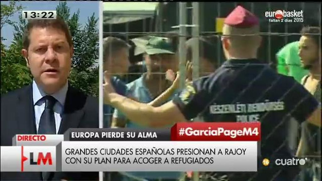 García - Page pone a disposición del gobierno los medios de CLM para acoger a refugiados de forma coordinada