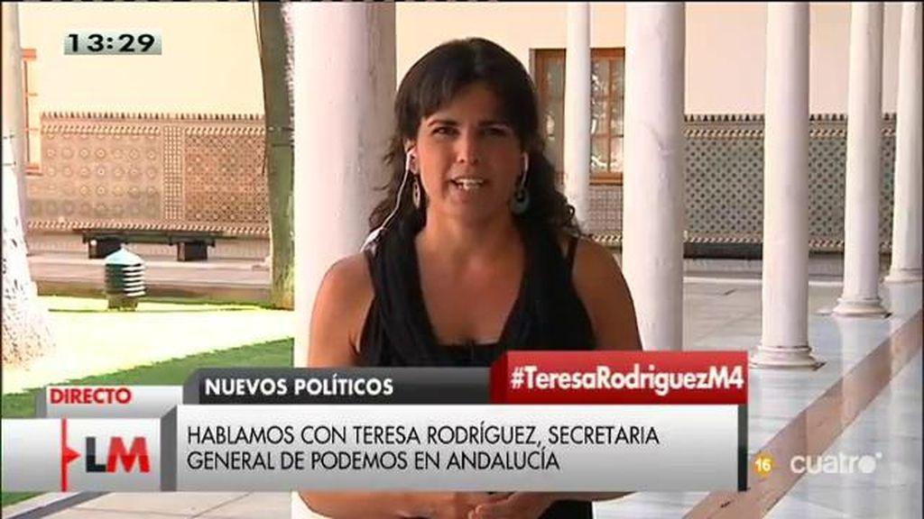 """Teresa Rodríguez: """"Lo que sigue siendo impune no es la poca vergüenza de los políticos, sino los casos de corrupción"""""""