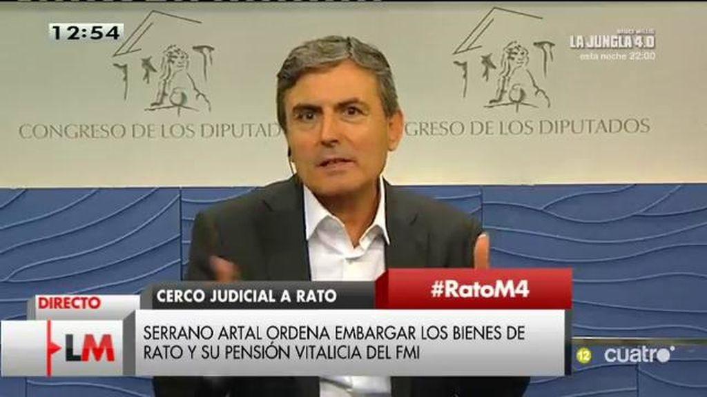"""Pedro Saura: """"Tenemos un Gobierno amigo del Señor Rato que ha intentado salvarle"""""""