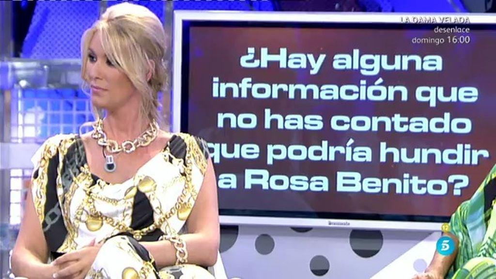 """Sandra: """"Según Rosa, Belén Esteban es un poco traicionera, maleducada y ordinaria"""""""
