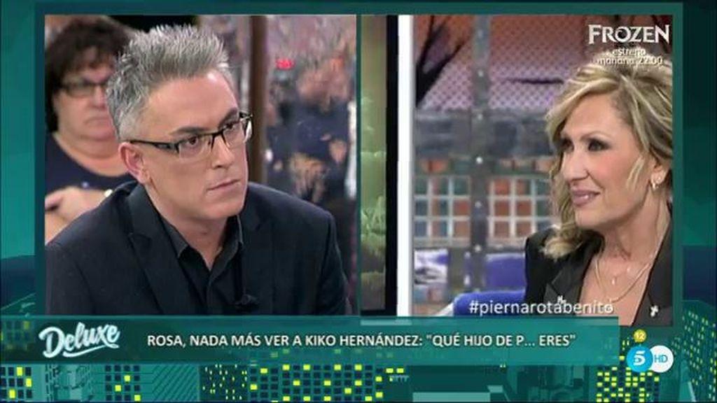 """Rosa Benito nada más ver a Kiko Hernández: """"¡Qué hijo de p*** eres!"""""""