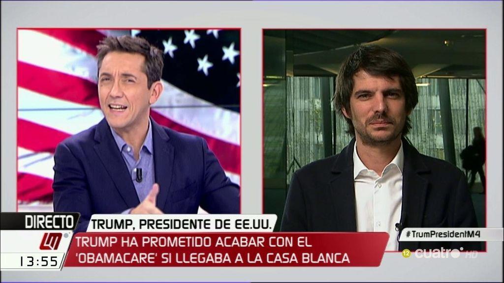 """Ernesto Urtasun: """"El Pentágono le pondrá el freno a Donald Trump"""""""