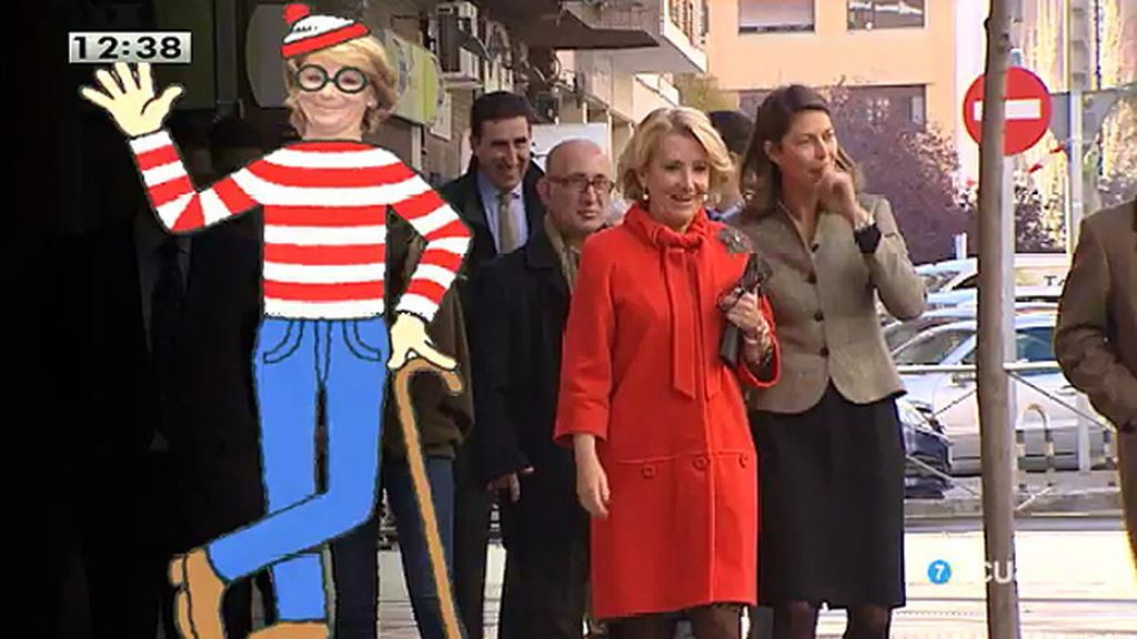 ¿Dónde está Esperanza Aguirre?