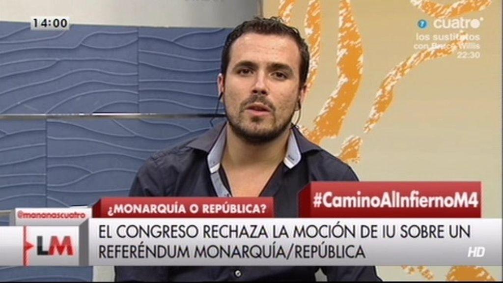 """Alberto Garzón: """"El Republicanismo es no dejar la política en manos de unos pocos"""""""