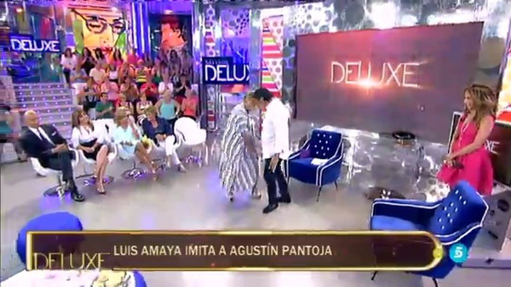 ¡Momentazo en 'Deluxe'! Luis Amaya y Mila se atreven a imitar a…¡Agustín Pantoja!
