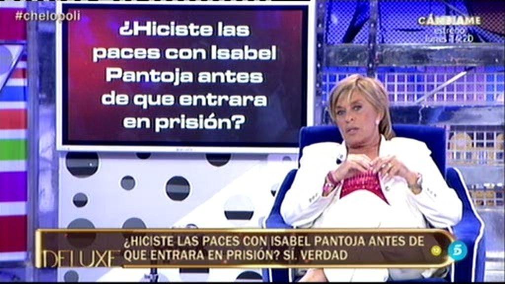 """Chelo, sobre Isabel Pantoja: """"Hicimos las paces antes de que entrase en prisión"""""""
