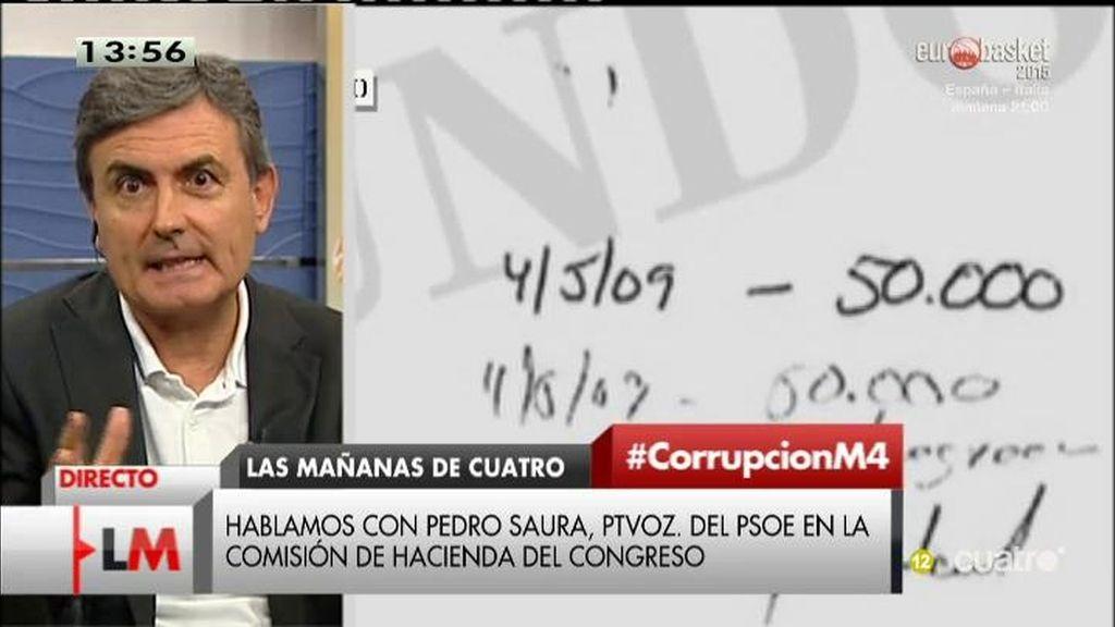 """Pedro Saura, sobre el 3% de CDC: """"Tesorero, Suiza, amnistía... me suena mucho al PP"""""""