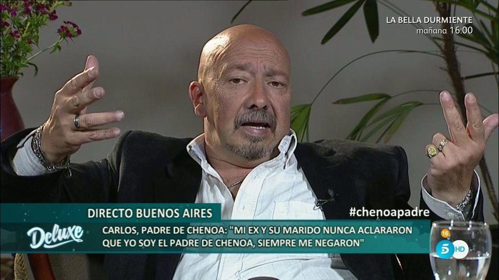 """Carlos: """"Salí en una revista y la madre de Chenoa hizo desaparecer los ejemplares"""""""