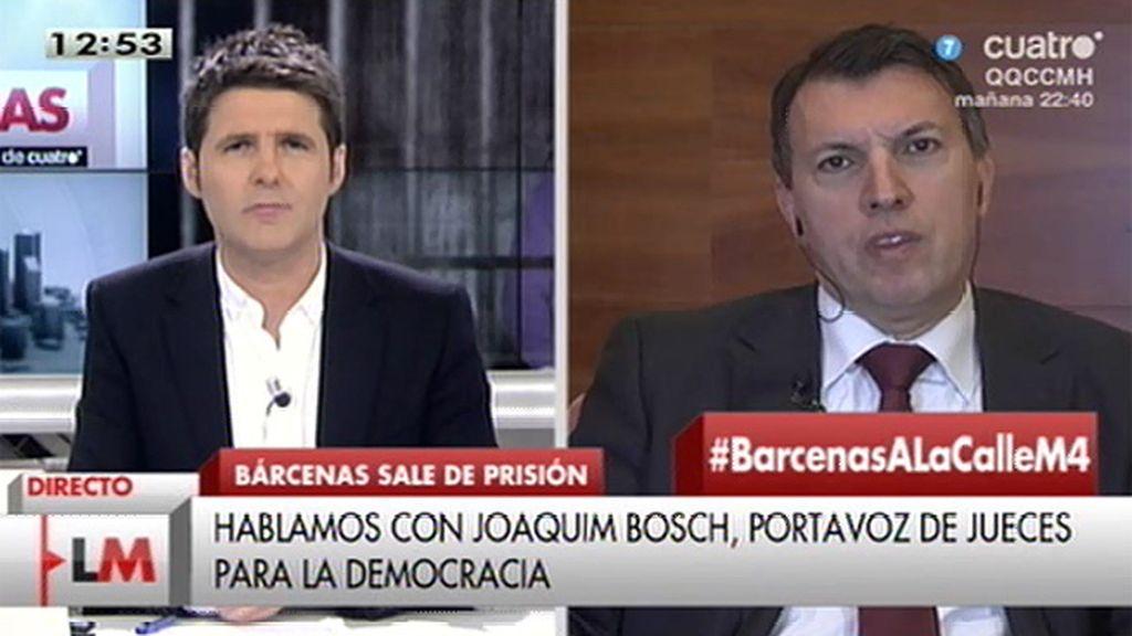 """J. Bosch, de Bárcenas: """"La decisión puede ser discutible pero no es arbitraria"""""""