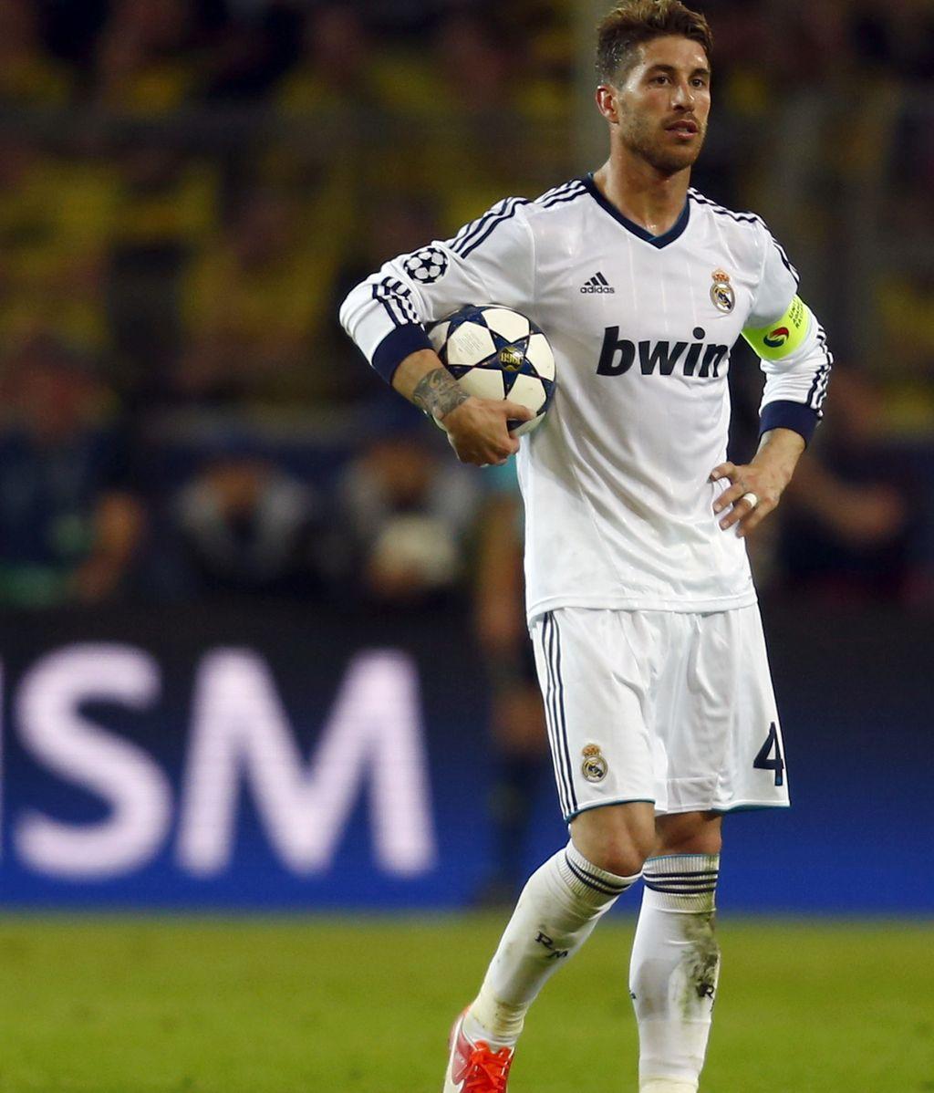 Sergio Ramos con cara de desesperación tras el partido ante el Borussia de Dortmund