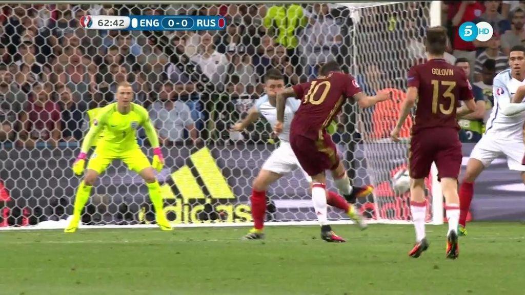 La tuvo Rusia para adelantarse en el marcador: tiro ajustado que se fue fuera