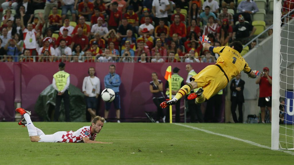 Croacia-España, en imágenes