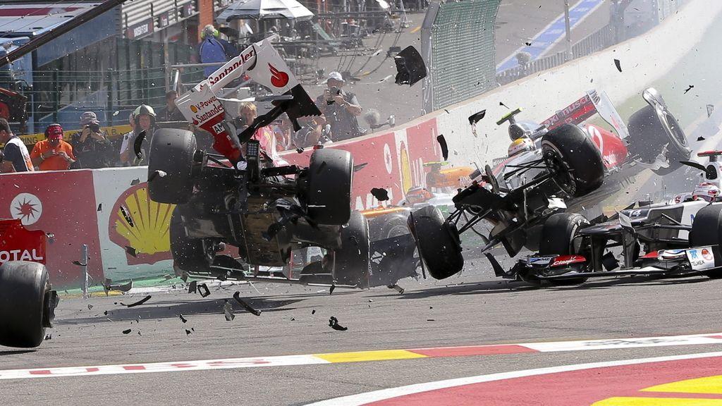 Accidente en el GP de Bélgica