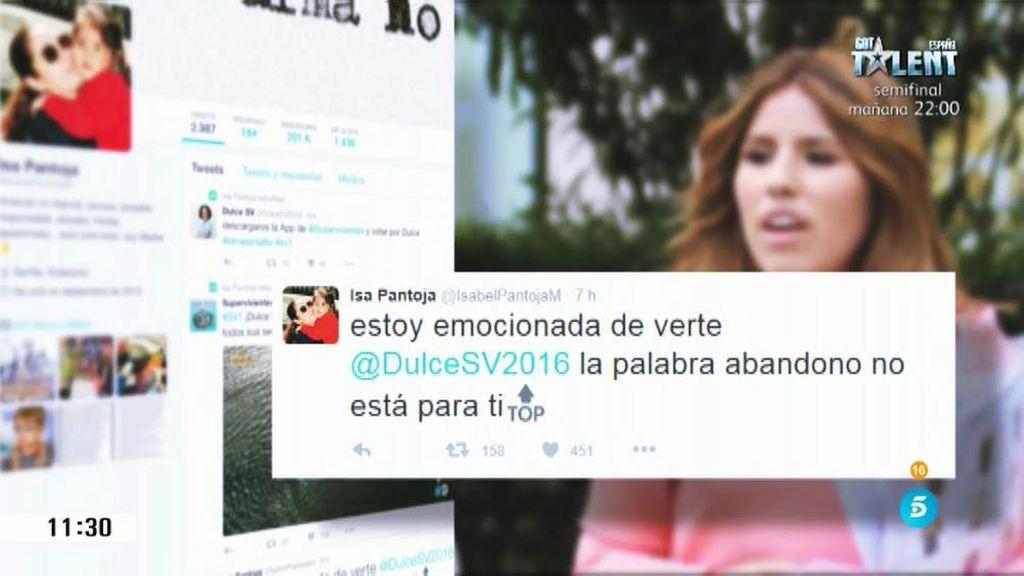 """Chabelita sigue la aventura de Dulce en 'Supervivientes': """"Emocionada de verte"""""""