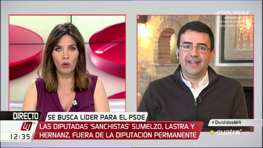 """Mario Jiménez: """"Pedro Sánchez tiene todo el derecho a presentar su candidatura"""""""