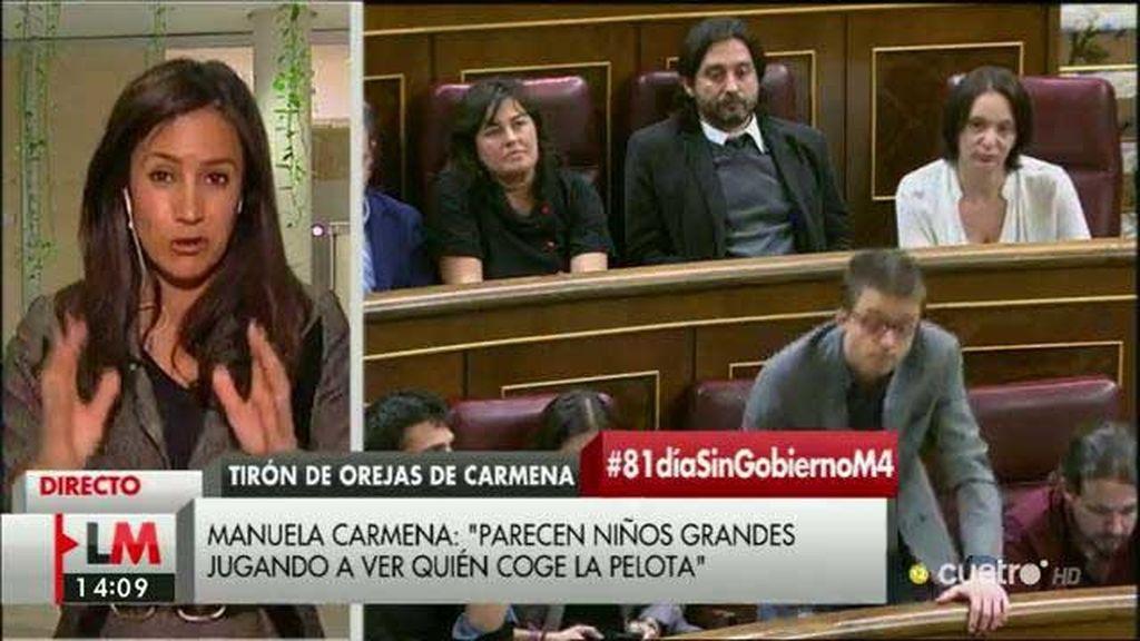 """Begoña Villacis, sobre el comentario de Carmena: """"Yo también me sentí como en un pleno infantil"""""""