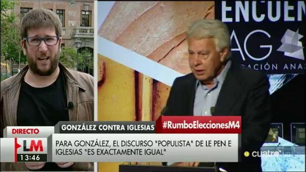 """Miguel Urbán: """"Felipe González hace declaraciones no sólo fuera de tono, también totalmente sacadas de contexto"""""""