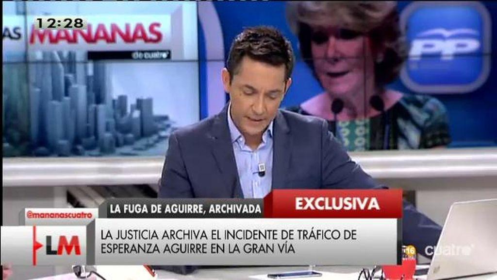 El agente de movilidad que dio el alto a Esperanza Aguirre asegura que volvería a actuar exactamente igual