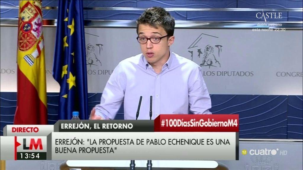 """Íñigo Errejón: """"No comparto la decisión del cese de Sergio Pascual"""""""
