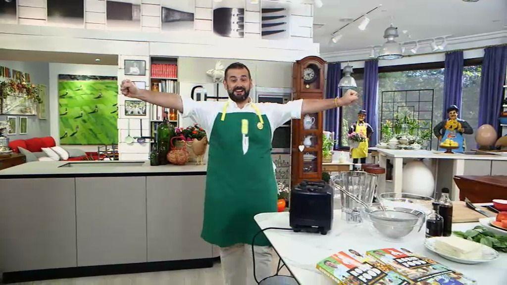 T01xP163: 'Porra de sandía, pasta 'Raffaella Carrà' y refresco de té y naranja'