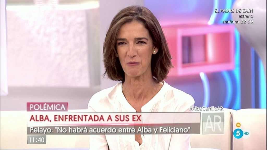 """Paloma García Pelayo: """"No habrá acuerdo entre Alba y Feliciano"""""""