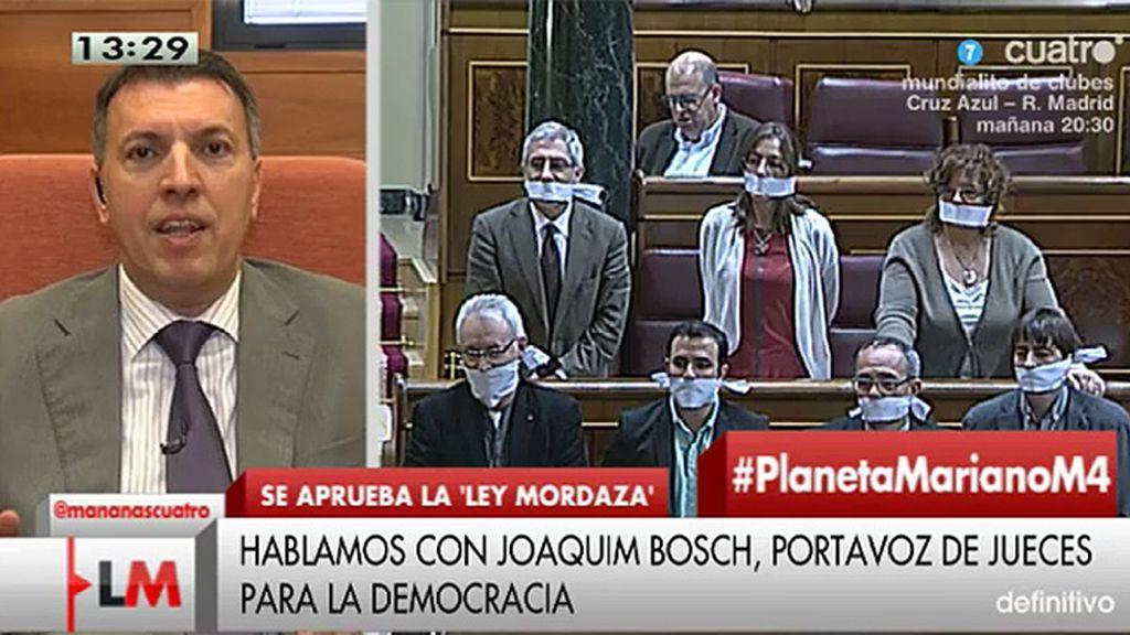 """Bosch: """"Parece que para el Gobierno el ciudadano que protesta es el enemigo"""""""