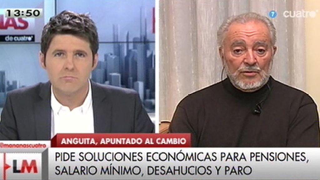 """J. Anguita: """"La transición no ha resuelto unos problemas que eran seculares"""""""