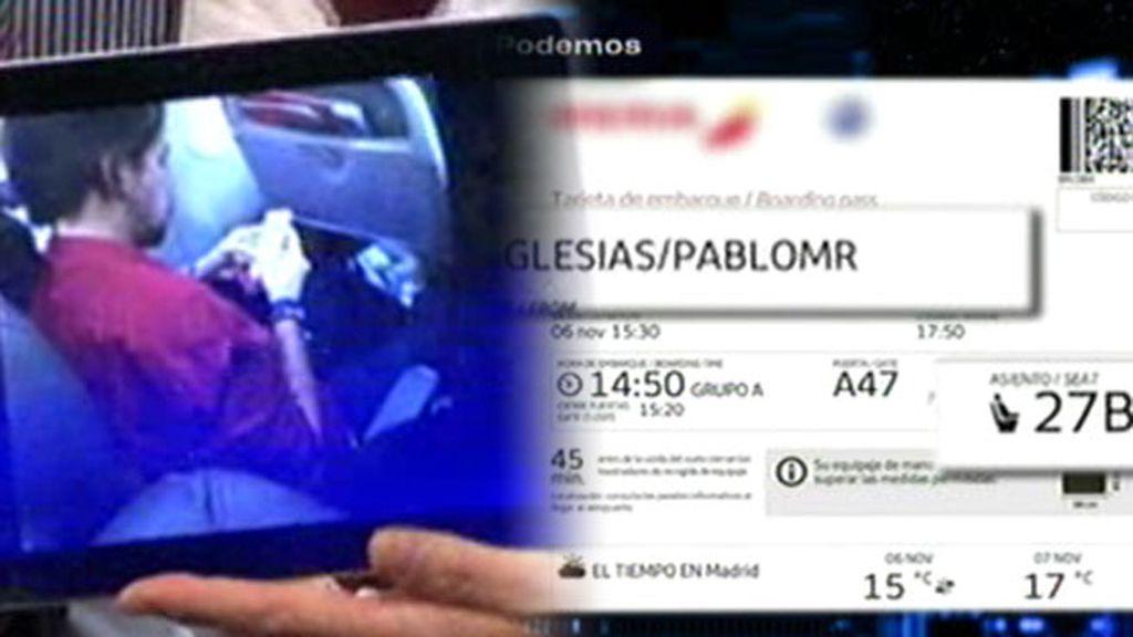 Pablo Iglesias desmiente en 'Un tiempo nuevo' que viajara en primera clase
