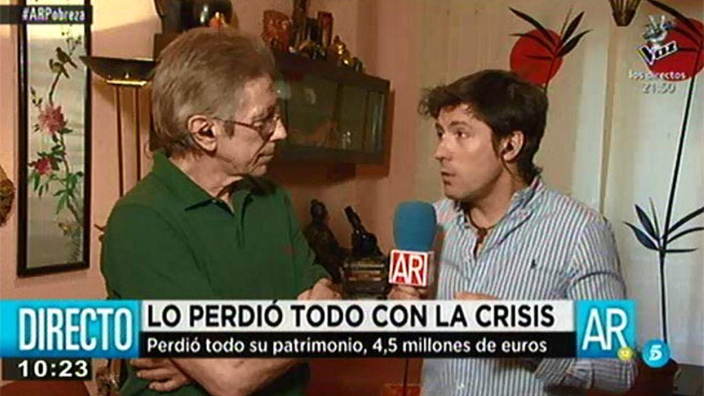 Juan y su familia perdieron todo su patrimonio y ahora sobreviven con 750 euros