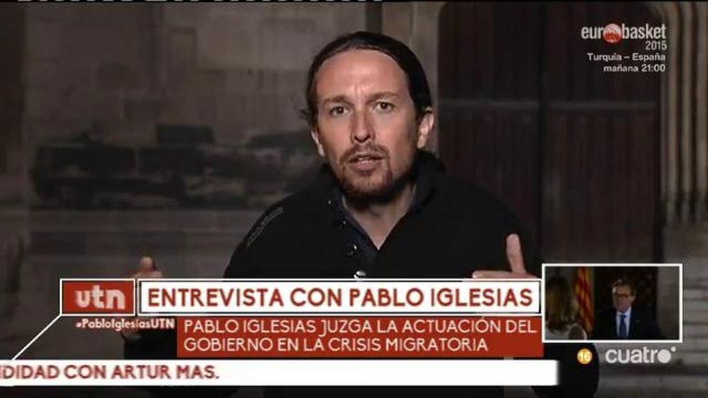 """Pablo Iglesias: """"La gente de Vallecas tiene mucho que ver con la de L'Hospitalet"""""""