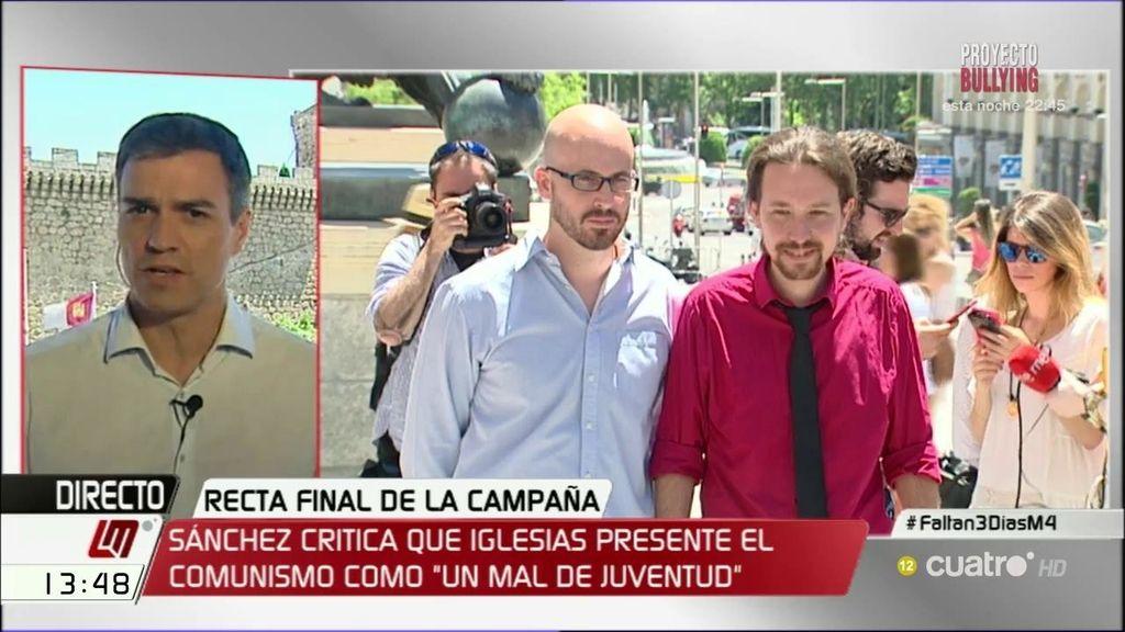 """Sánchez: """"Iglesias es el profeta del fin de las ideologías con tal de llegar al poder"""""""