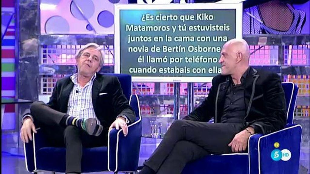 José Javier y Kiko Matamoros hicieron un trío con una novia de Bertín Osborne