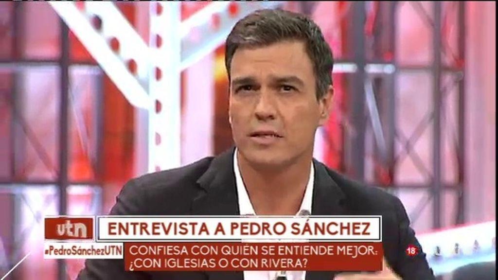 """Pedro Sánchez: """"Pactaría con Ciudadanos porque es una derecha moderna"""""""