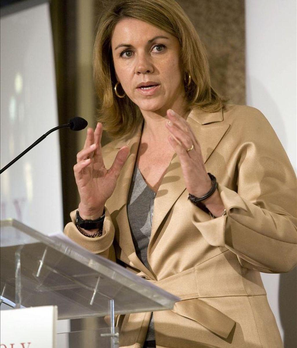 La secretaria general del PP, María Dolores de Cospedal. EFE/Archivo