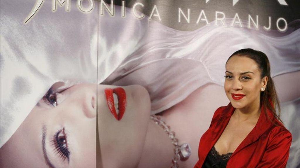 La cantante Mónica Naranjo durante la entrevista con Efe con motivo de su próxima gira. EFE