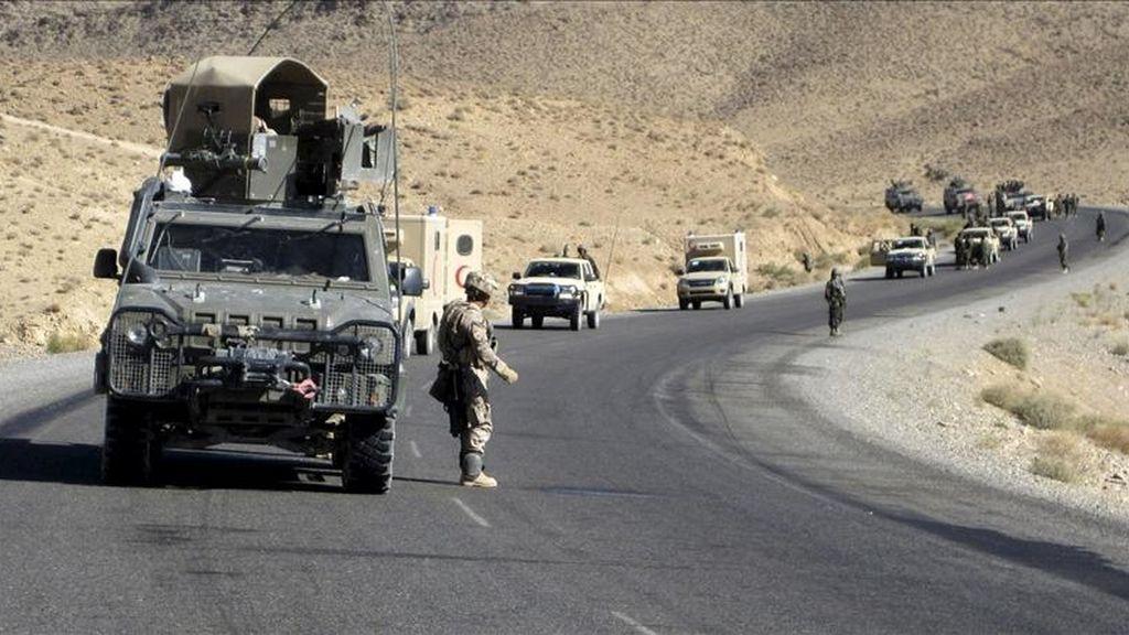 En la imagen el primer batallón de infantería afgano instruido por militares españoles. EFE/Archivo