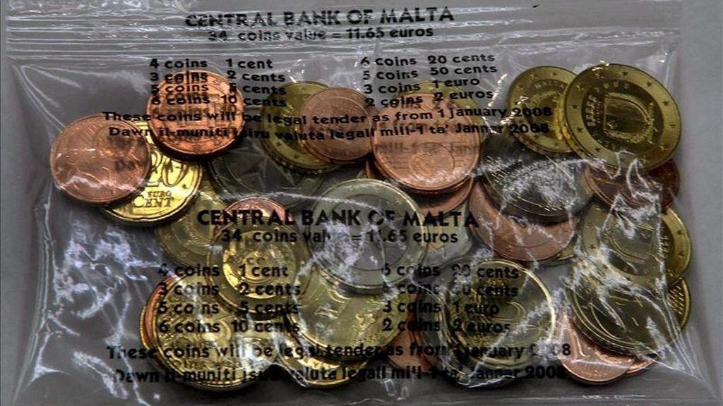 Vista de monedas de euro. EFE/Archivo