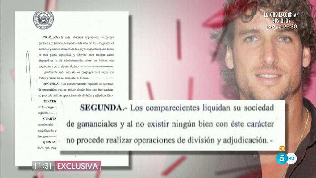 Feliciano le ofreció a Alba consultar con su abogada la separación de bienes