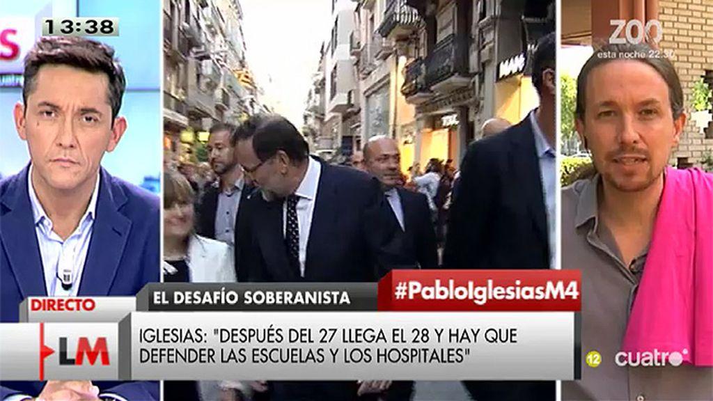 """Pablo Iglesias: """"Es todo un filósofo nuestro presidente"""""""