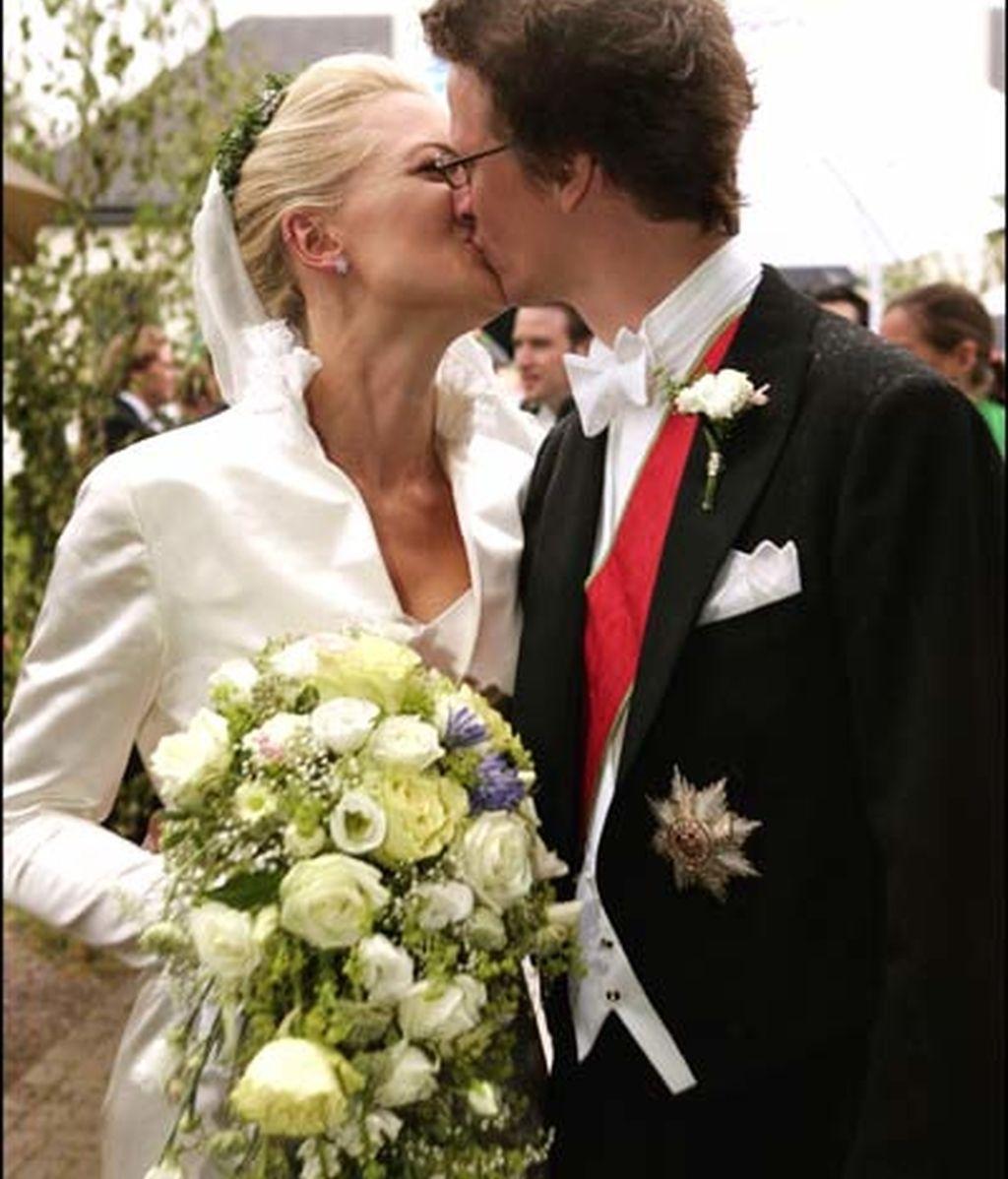 La princesa Anna de Sayn y el príncipe Manuel de Baviera
