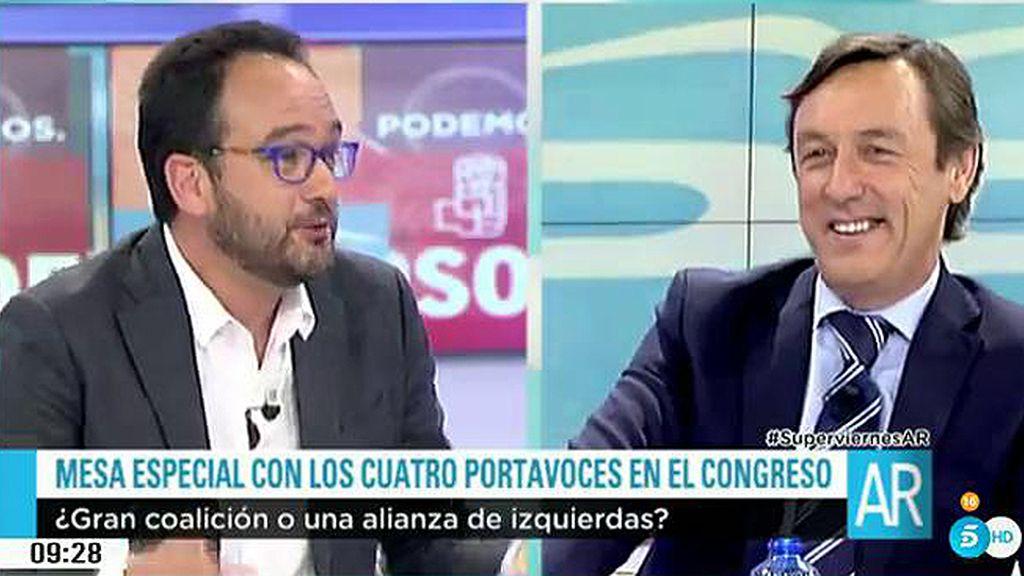 """El portavoz socialista, al popular: """"No va a haber coalición Rafa, no te empeñes"""""""